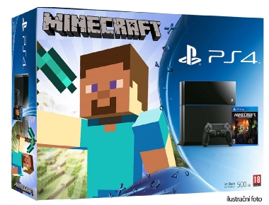 SONY PlayStation 4 - 1TB slim Black CUH-2116B + Minecraft