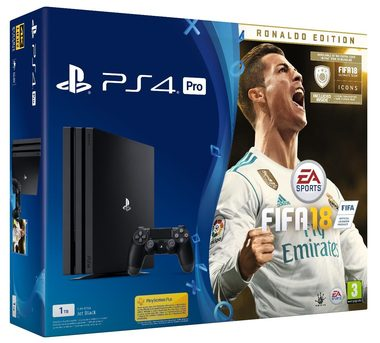 SONY PlayStation 4 Pro - 1TB CUH-7016B + FIFA 18 Ronaldo Edition + PS Plus 14 dní