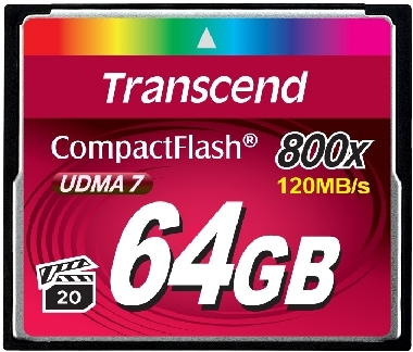 Transcend Compact Flash 64GB Premium