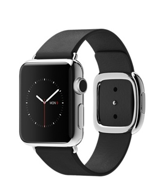 Apple Watch Black Modern Buckle