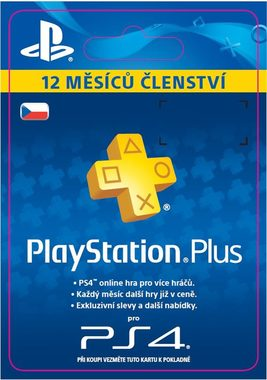 Sony Playstation Plus Card - 365 dní (Sony PlayStation 4 3 Vita)